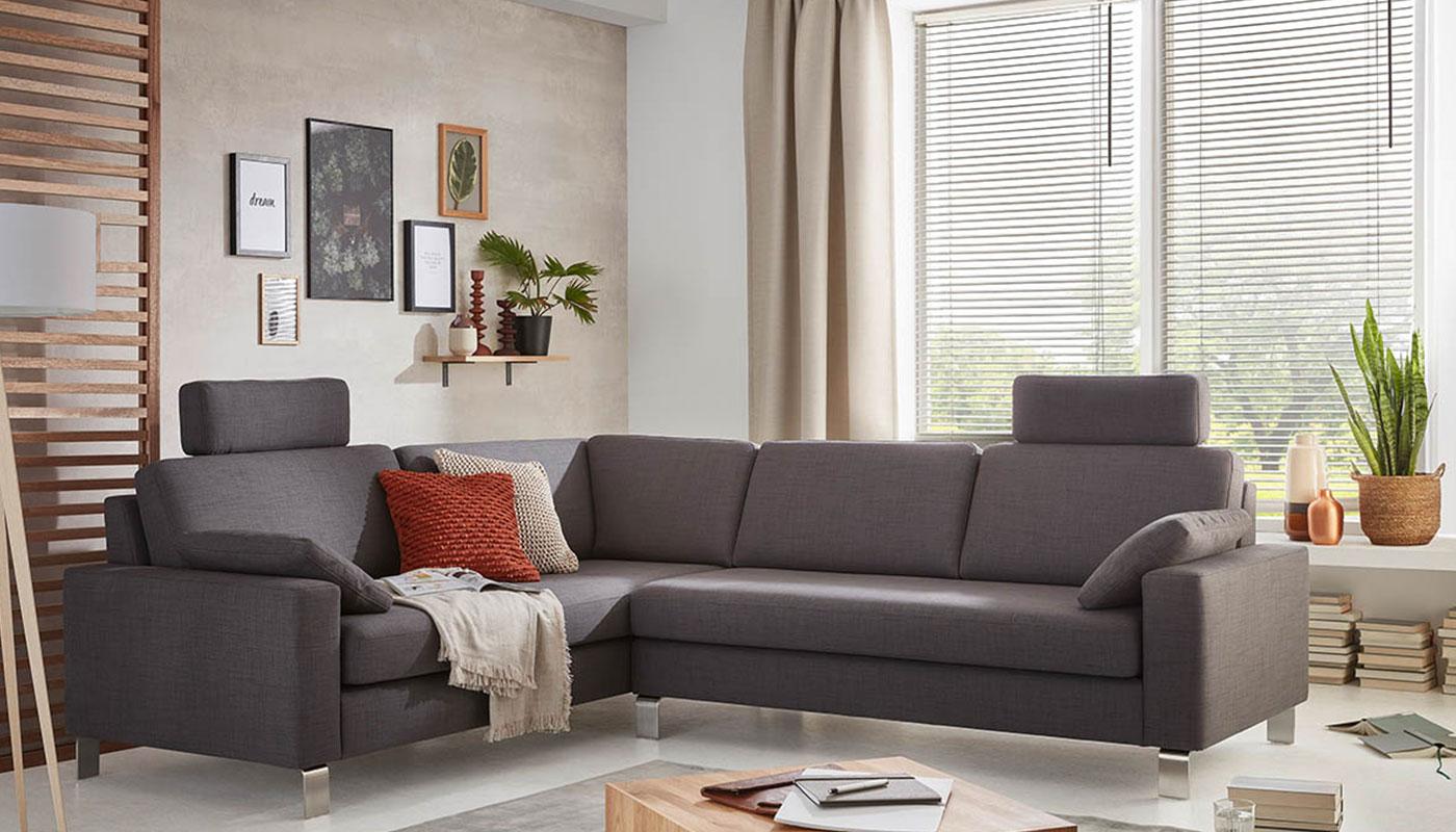 Wolkenweich Couchgarnitur grau